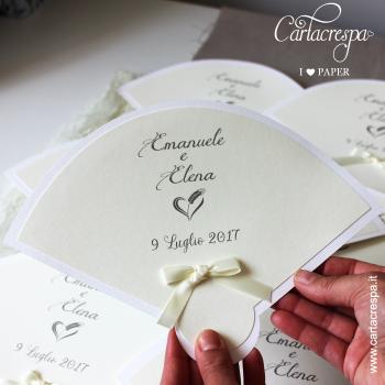 Ventaglio Matrimonio Avorio Carta